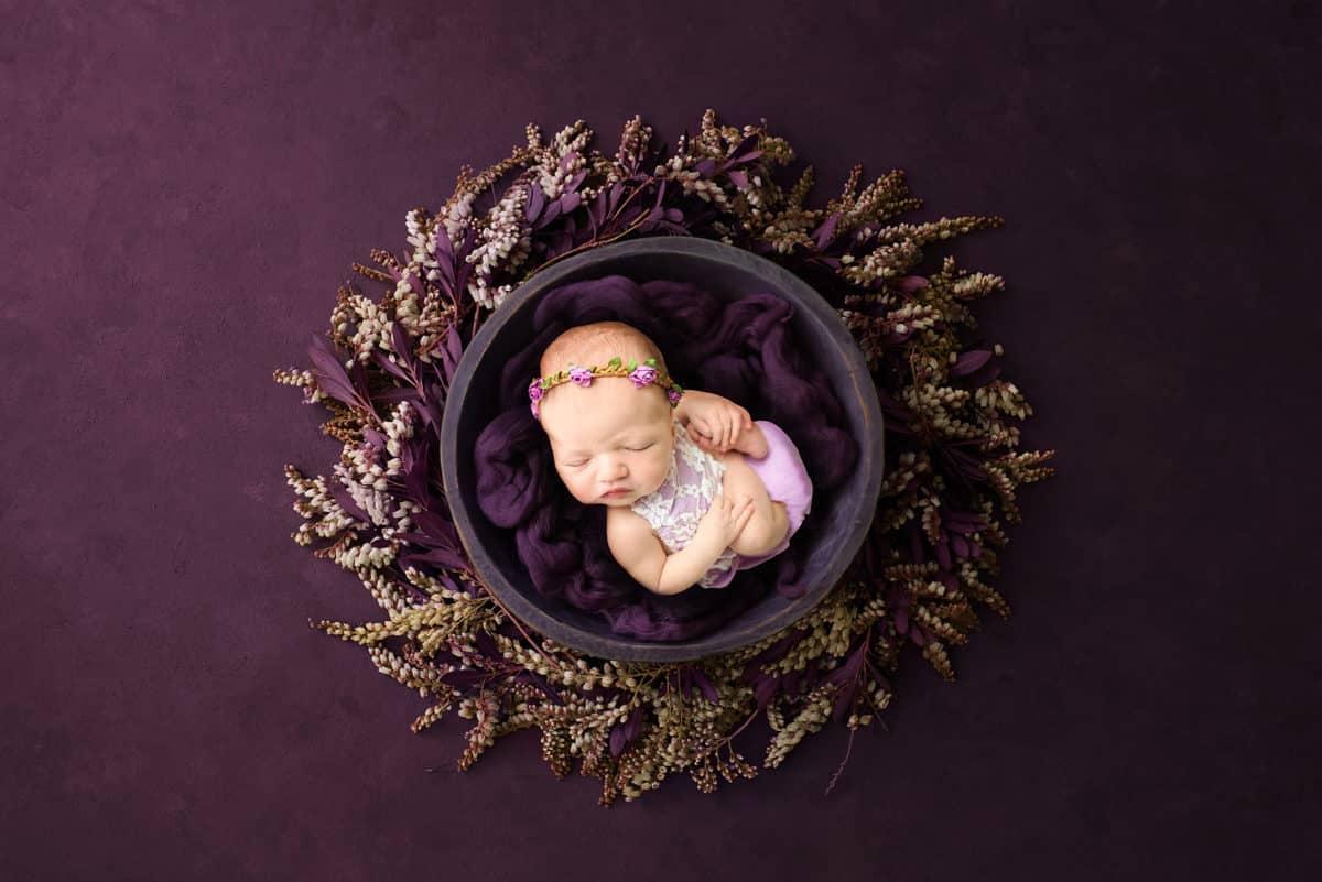 Studio Newborn portraits by Mary Tweedy Photography