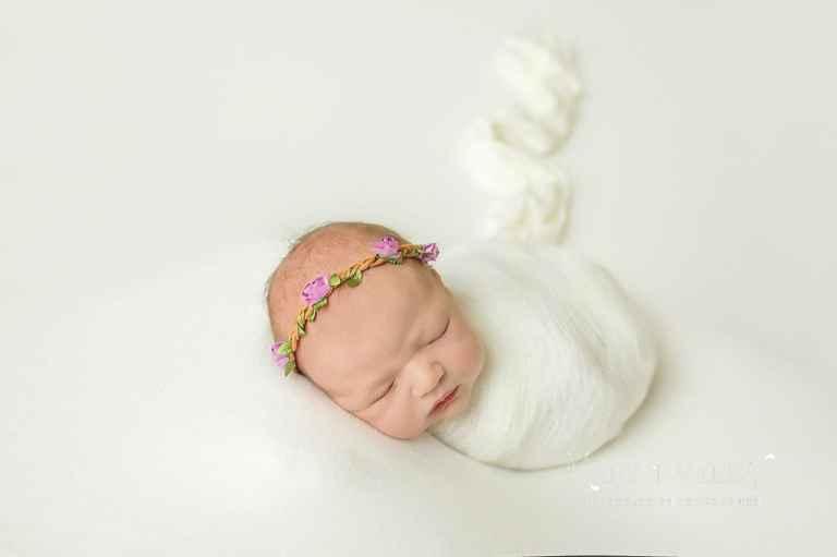 purple color newborn portraits